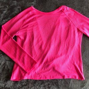 Neon Pink Crossed Back Athletic Top